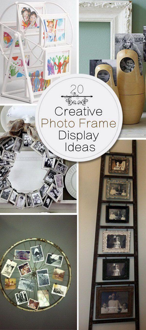 creative photo frame display ideas creative photo frames photo