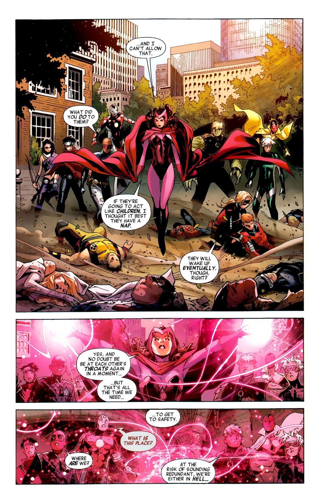 Avengers The Children S Crusade Issue 7 Read Avengers The Children S Crusade Issue 7 Comic Online In High Em 2020 Feiticeira Escarlate Escarlate Memes Engracados