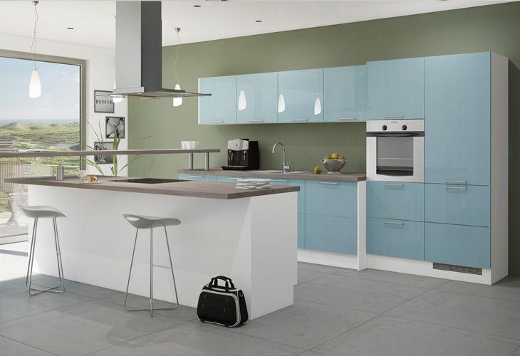 Küche Hellblau küche in hellblau kücheninsel dyk360 kuechen de hellblaue