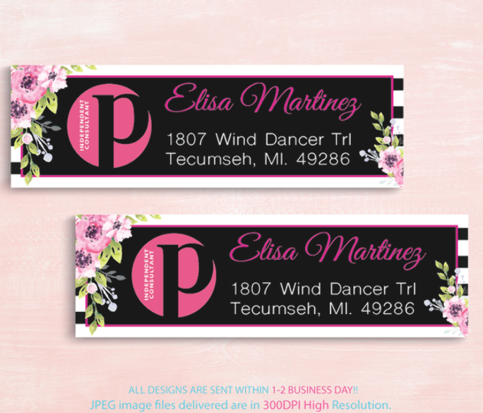 Perfectly Posh Address Labels Personalized Perfectly Posh Return Labels Perfectly Posh Independent Consultant New Logo Ps08 By Digitalart 8 50 Usd En 2020