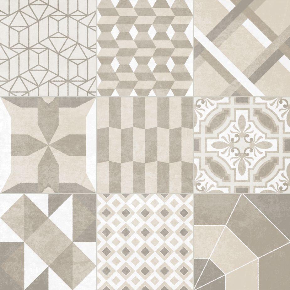 Essence decor neutro revestimento piso azulejo - Ladrillo hidraulico ...