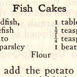 Fish Cakes 1929