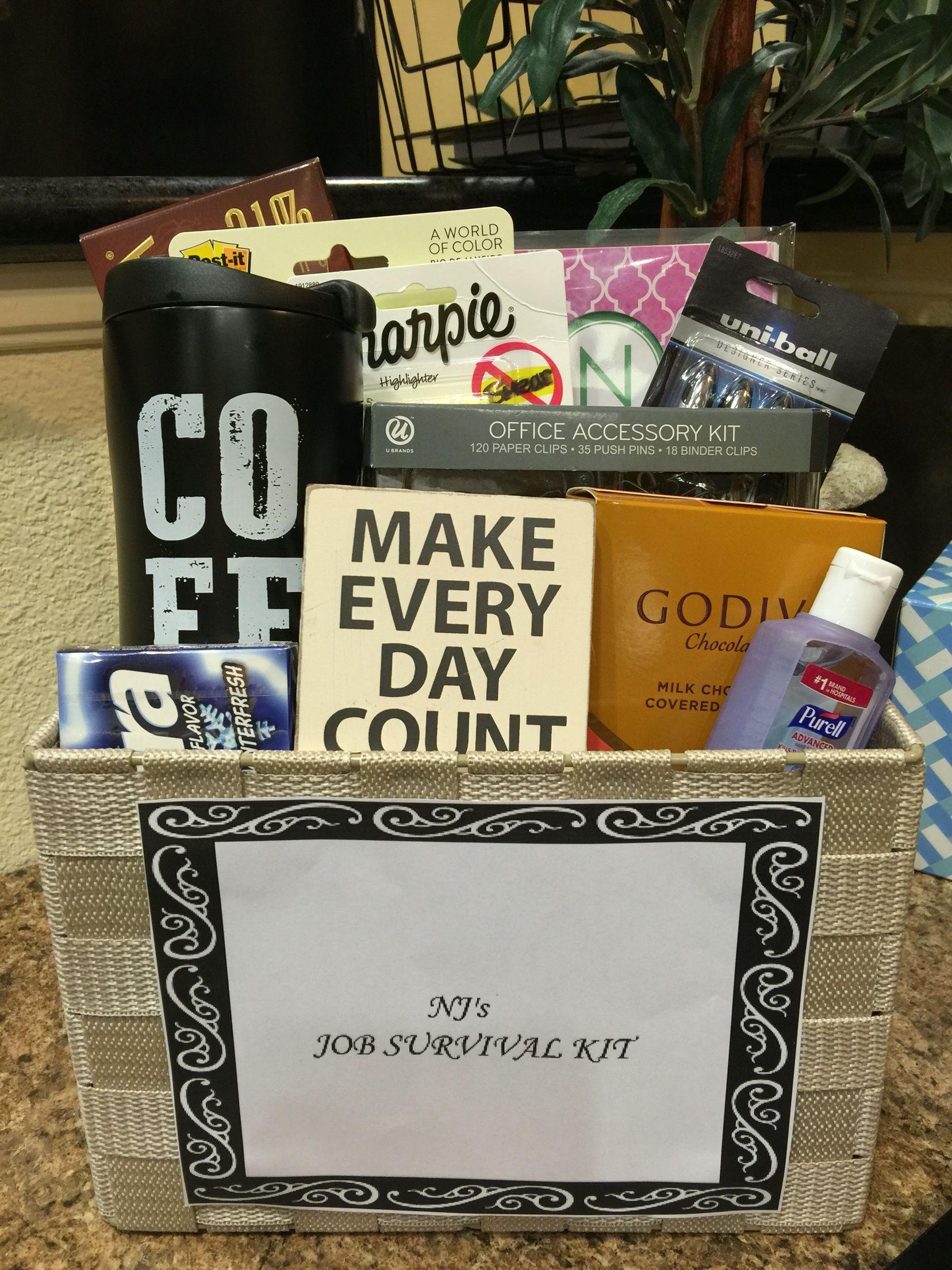 New Job Survival Kit Appreciation Gift Ideas