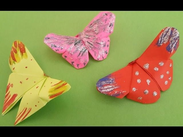 Paper Craft Ideas For Kids Under 5 Part - 49: 5 Minutes Easy Origami Butterfly For Kids : How To Make Beautiful Paper  Butterfly