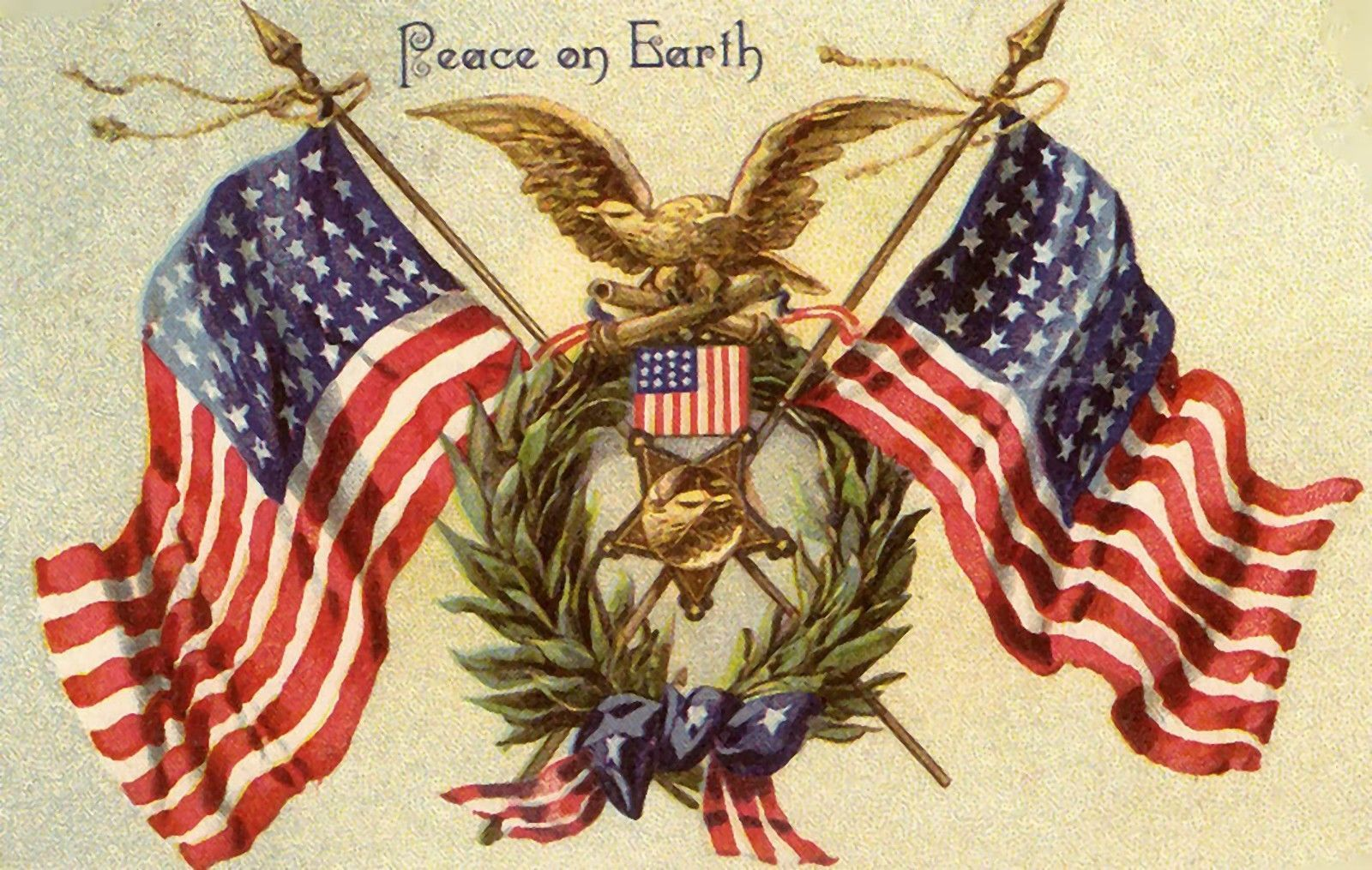 Peace On Earth~Counted Cross Stitch Pattern #559~Patriotic Graph ...
