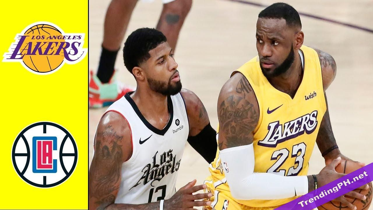 Los Angeles Lakers Vs Los Angeles Clippers Full Game Highlights Nba Restart July 30 2020 In 2020 Los Angeles Clippers Los Angeles Lakers Lakers Vs