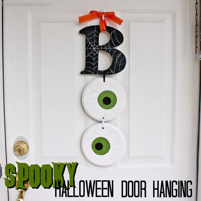 Spooky Halloween Decor Idea with thatswhatchesaidnet Halloween - how to make simple halloween decorations