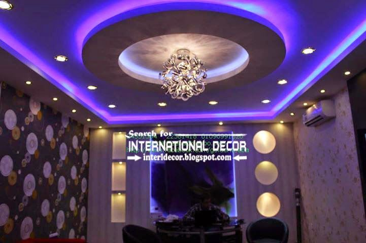 Modern suspended ceiling lights for living room ceiling for Suspended ceiling designs living room
