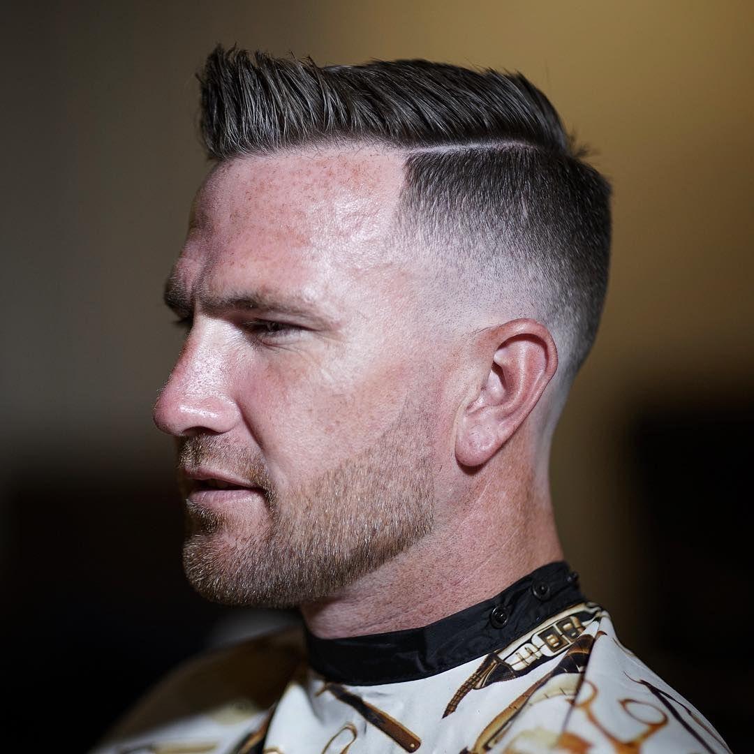 Classic Short Side Part Haircut Mid Skin Fade Fadehaircuts