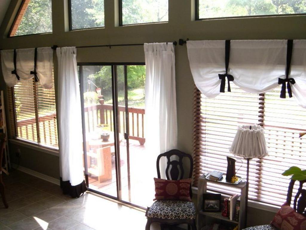 window treatments for sliding glass doors in bedroom Living room