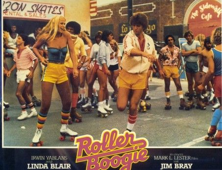 Retro roller boogie outfits.