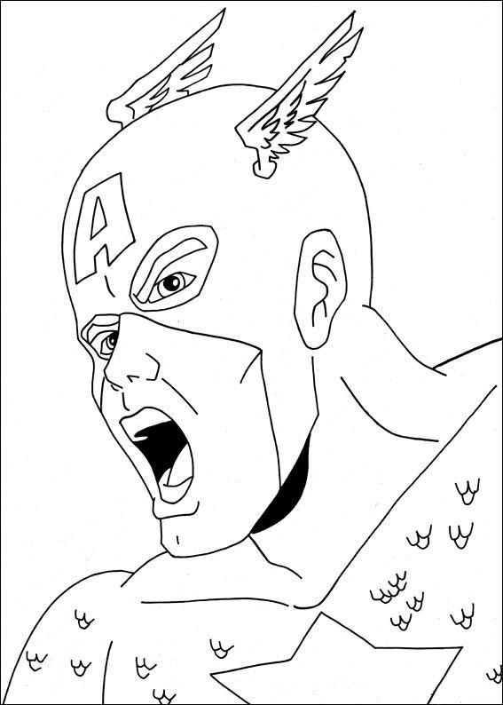 Malvorlagen Captain America 6 Ausmalbilder Für Kinder Pinterest