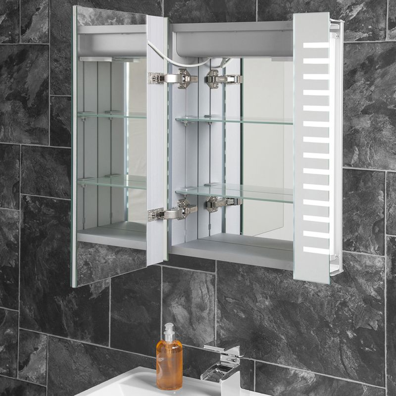 Bathroom Mirrors Range platinum led bathroom demister cabinet | platinum range | light