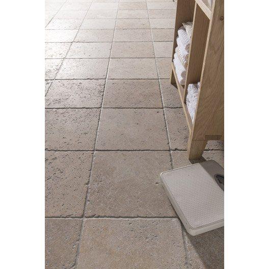Travertin sol et mur beige effet pierre veritable l.30.5 x L ...