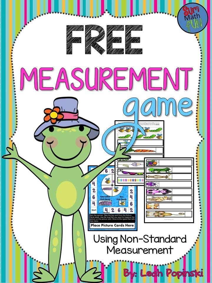 Free Measurement Game Free Lessons Math Measurement