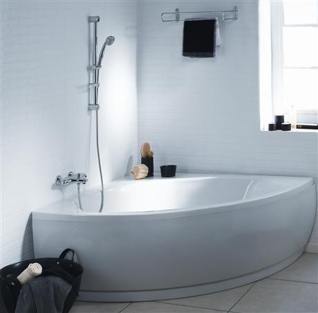 baignoire d 39 angle matea 120x120 cm blanc acrylique p016601 catalogue en ligne nabis baignoires. Black Bedroom Furniture Sets. Home Design Ideas