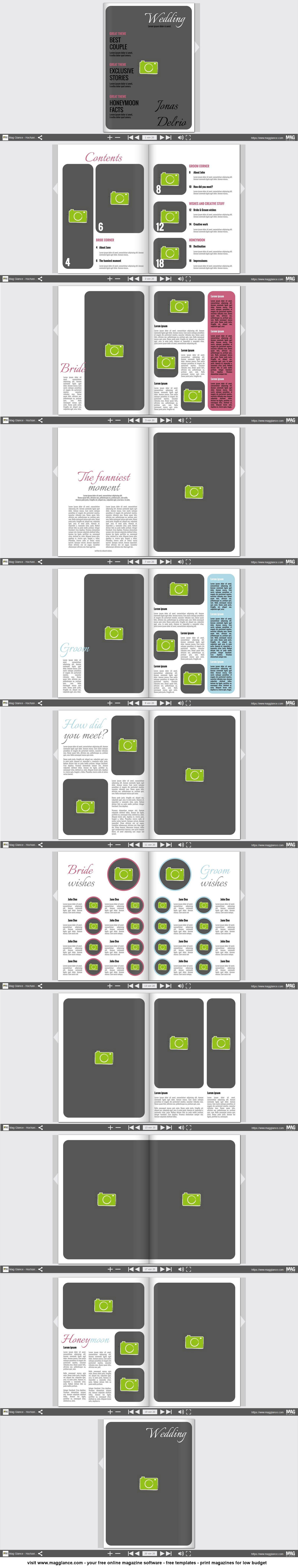 Hochzeitszeitung kostenlos online erstellen und günstig drucken ...