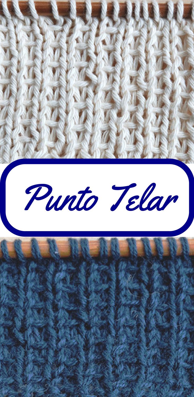 Cómo tejer el PUNTO TELAR paso a paso (dos agujas | Bufandas ...