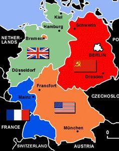 Die Besatzungszonen Der Alliierten Nach 1945 Der Westteil Wurde