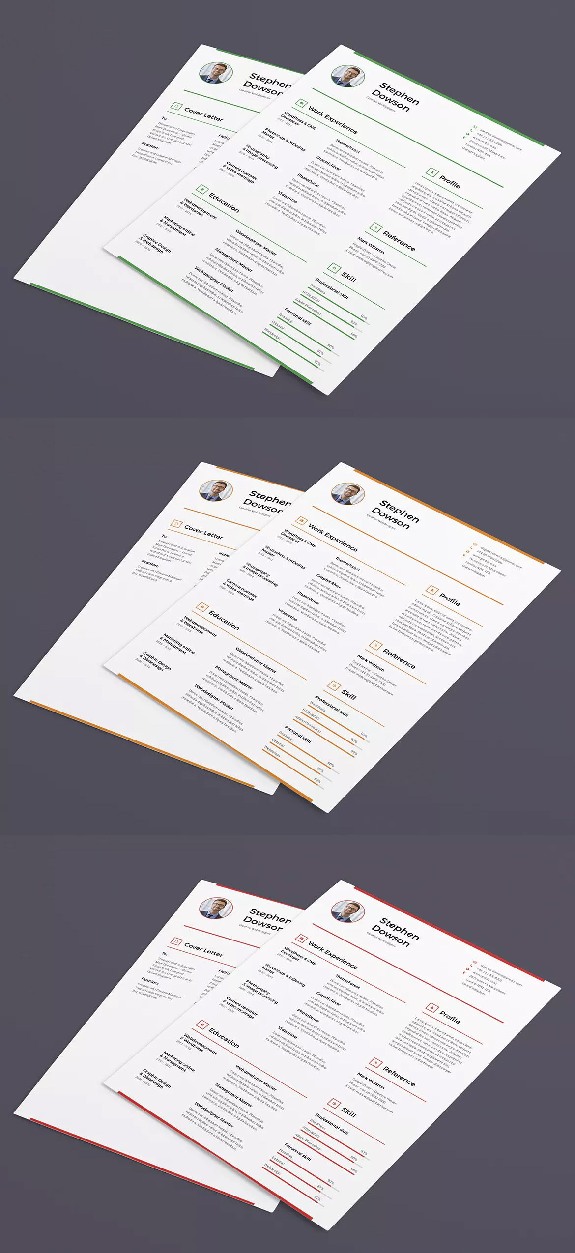 Resume And Cover Letter Template INDD, PSD