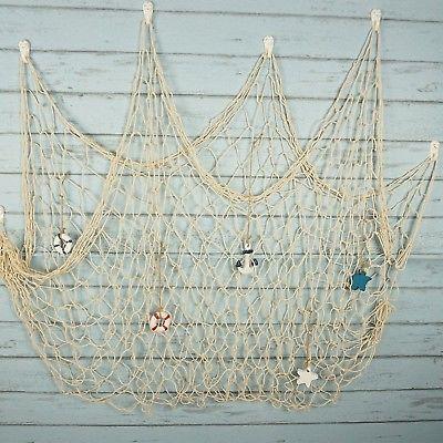 Photo of Bilipala Rustic Nautical Decorative Fishing Net Wall Hangings Decor with Star…
