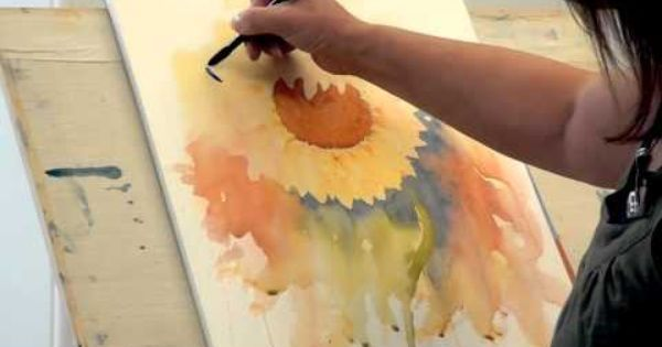Sunflower - Watercolour Demo - Joanne Boon Thomas--OMG, I love this demo. I must try this myself! | Art | Pinterest | Watercolour and Sunflowers