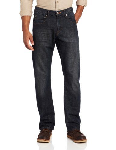 66e932de Lee Men's Modern Series Relaxed Fit Straight Leg Jean, Storm Rider ...