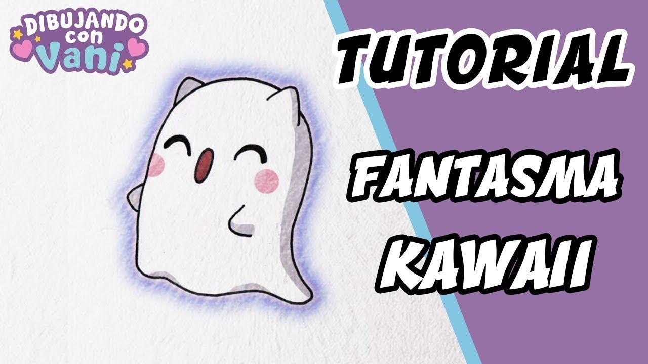 Como Dibujar Un Gato Fantasma Kawaii Dibujos Faciles Paso A Paso