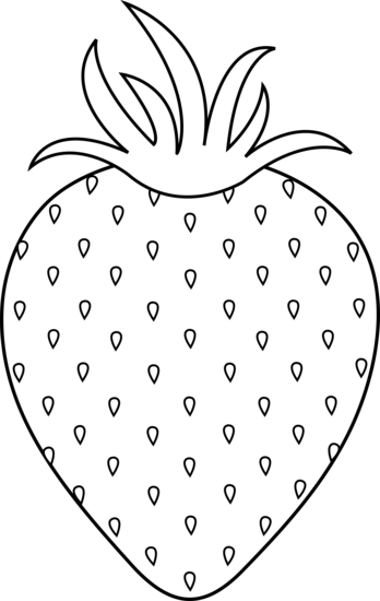 Strawberry Colorable Lineart Free Clip Art Embroidery Patterns Embroidery Blanks Embroidery Patterns Free