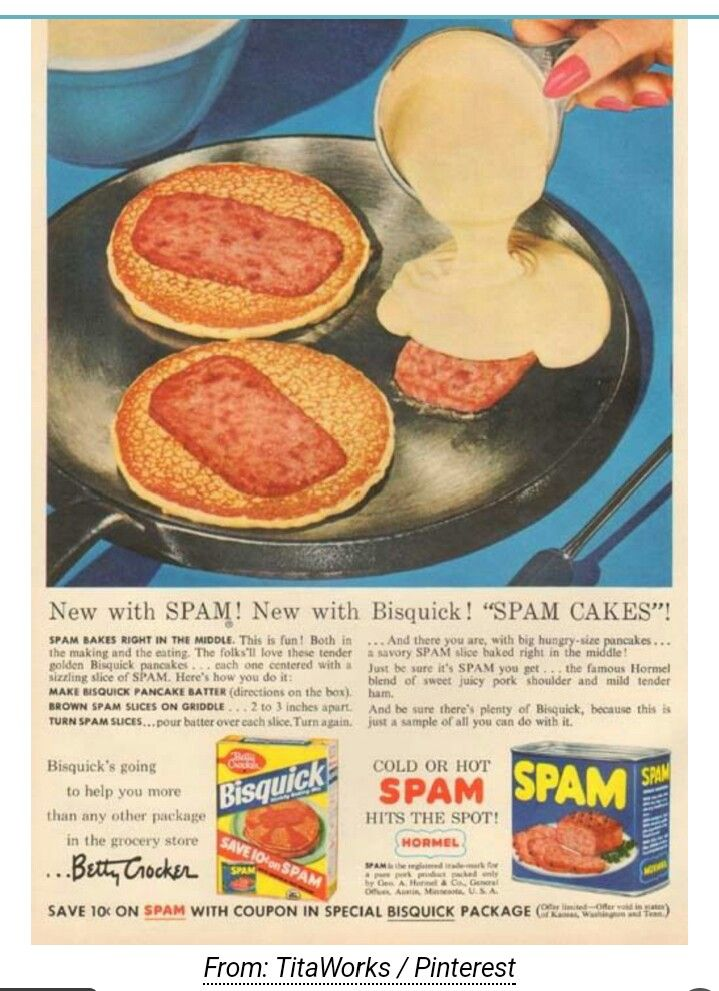 Vintage Advertisements Ads Stuff Gross Food Fun Spam Recipes Retro 60 S