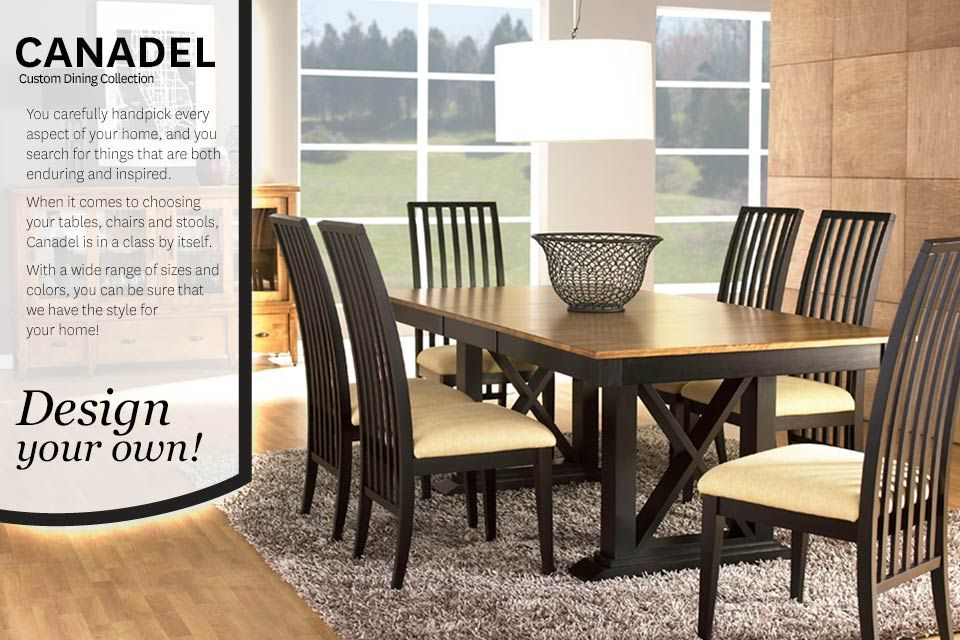 Canadel Canadian Made Solid Wood Dining Tables You Design