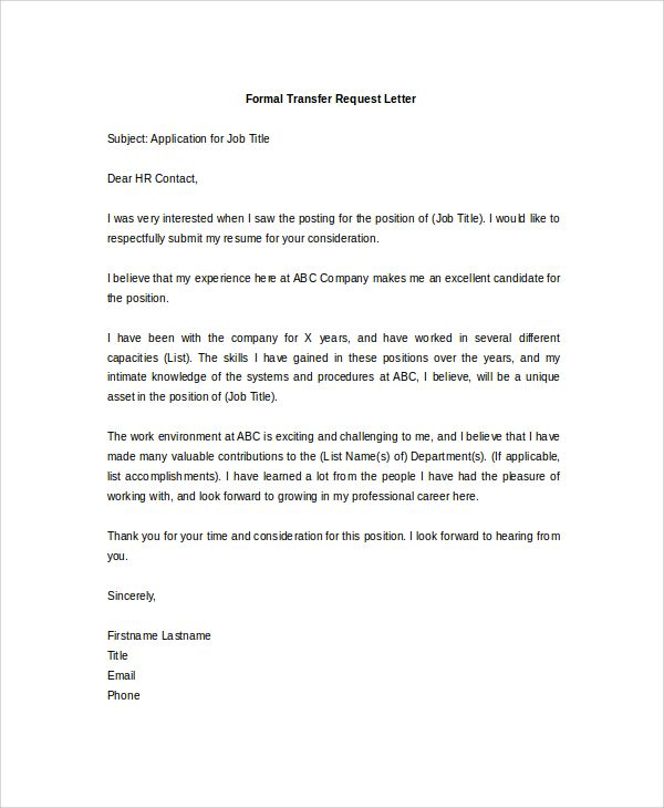 Letter format formal request free resume cover and permission pdf transfer request letter requisition letter sample format 5 sample thank you letter after interview resignation letter letter thecheapjerseys