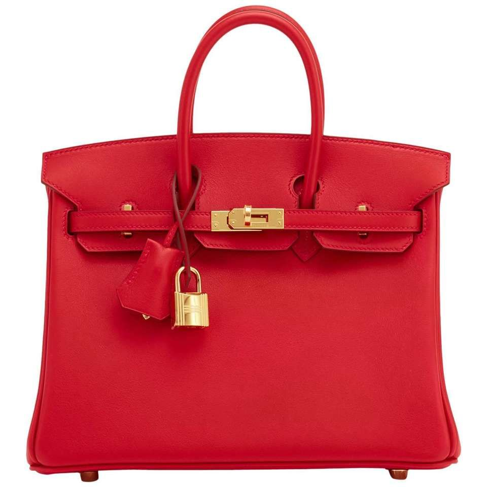 c14dcb2b17a4 Hermes Vermillion Lipstick Red 25cm Swift Birkin Bag Gold Hardware Jewel 1