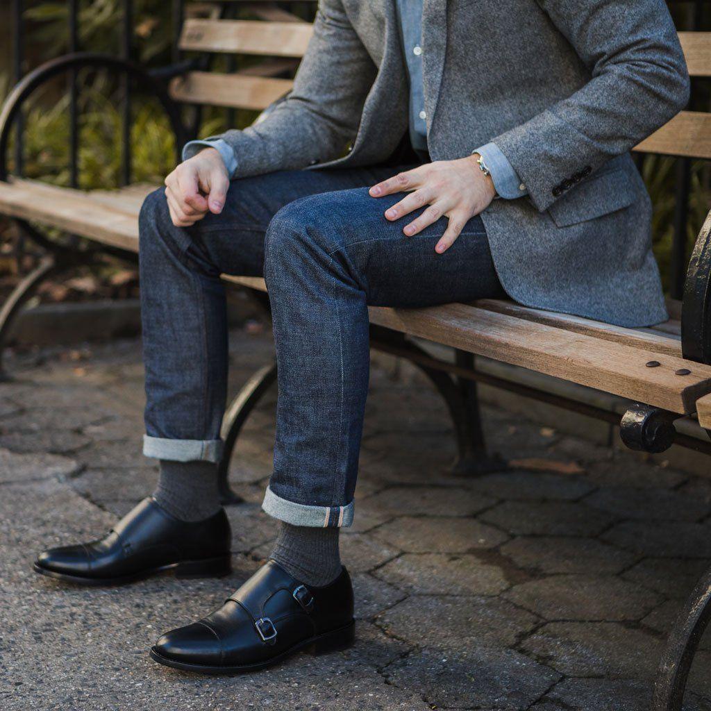 Men S Black Saint Double Monk Shoe Thursday Mens Outfits Dress Shoes Men Big Men Fashion [ 1024 x 1024 Pixel ]