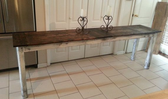 Narrow Farmhouse Table/desk By Whitepinecrafters On Etsy, $385.00