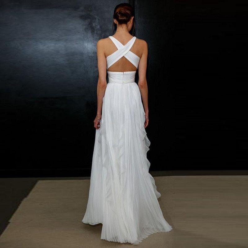Simple Wedding Dress For Godmother: 2017 Sheath Wedding Dresses For Greek Goddess Simple
