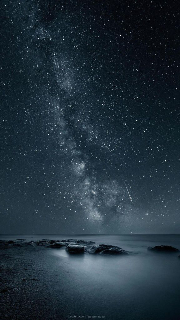 Cool Iphone Wallpapers Iphone7 Iphone8 Night Sky 4k En 2019