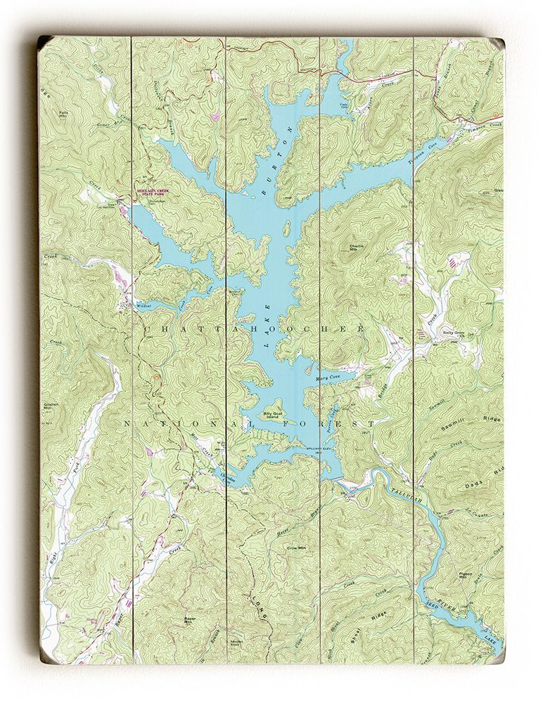 lake burton ga map Ga Lake Burton Ga 1957 Topo Map Sign With Images Map Signs lake burton ga map