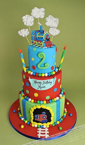 Train birthday cake by Design Cakes via Flickr Cakes Pinterest