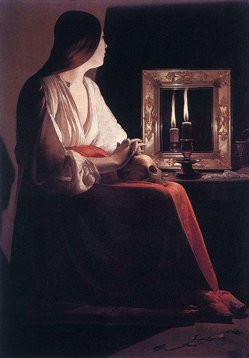 Georges De La Tour Paintings The Penitent Magdalen 1638 1643 Baroque Art Metropolitan Museum Of Art La Tour