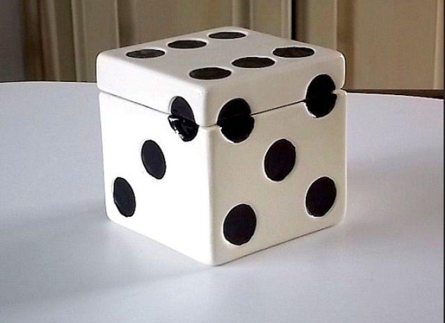Ceramic Dice Box With Images Slab