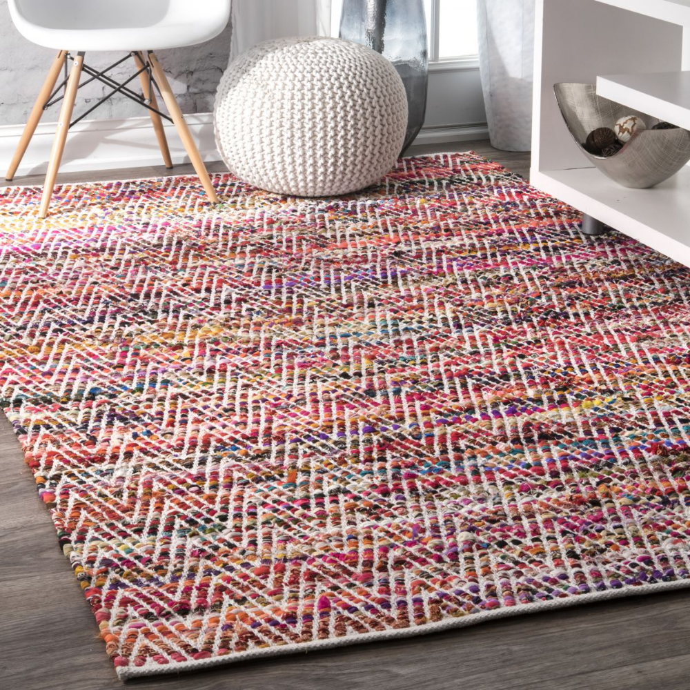 Grovetown Hand Woven Candy Striped Chevron Magenta Rug Chevron Area Rugs Rugs On Carpet Handmade Home Decor