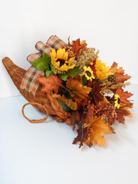 Cornucopia Basket Horn Of Plenty Thanksgiving Decor