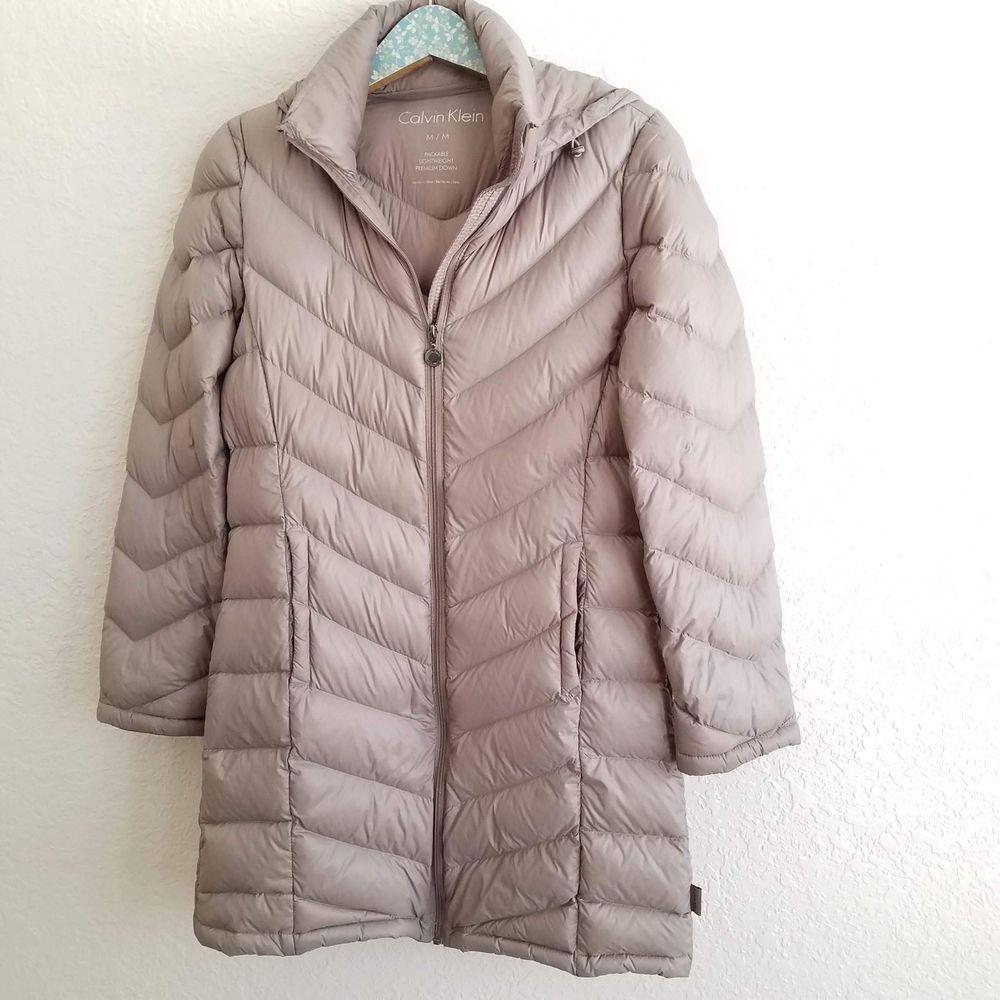 Calvin Klein Down Coat Hoodie Size Medium Taupe Brown Puffer Jacket Women Calvinklein Puffer Puffer Jacket Women Brown Puffer Jacket Hoodie Coat [ 1000 x 1000 Pixel ]