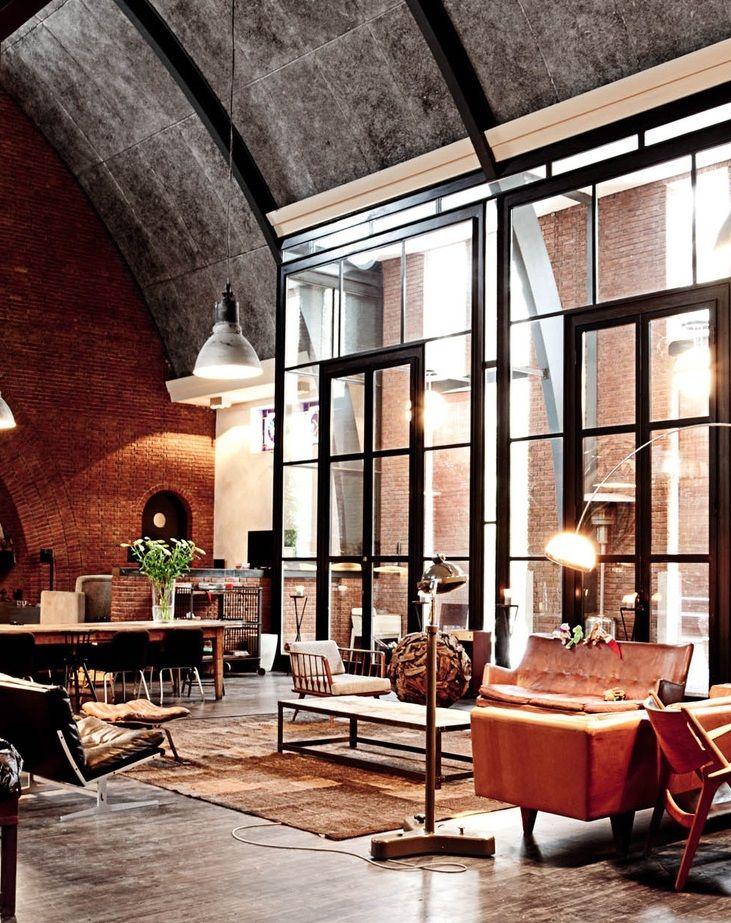 17 Concrete Rooms That Are Surprisingly Cozy Loft Design Industrial Style Decor Loft Apartment Decorating