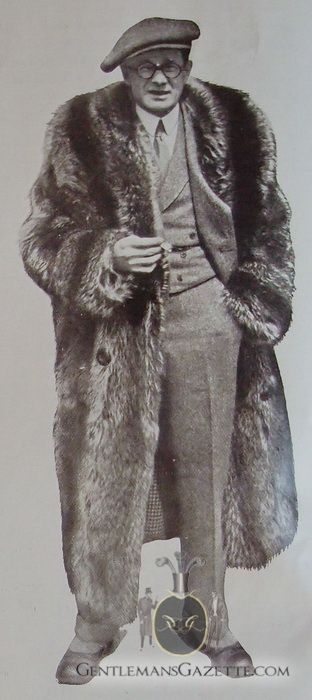 891a34e06 Raccoon Fur Coat 1928. Not popular today for many men's choice of ...