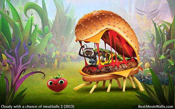 Cloudy With A Chance Of Meatballs 2 Cheespider Wallpaper Hd Steve And Berry