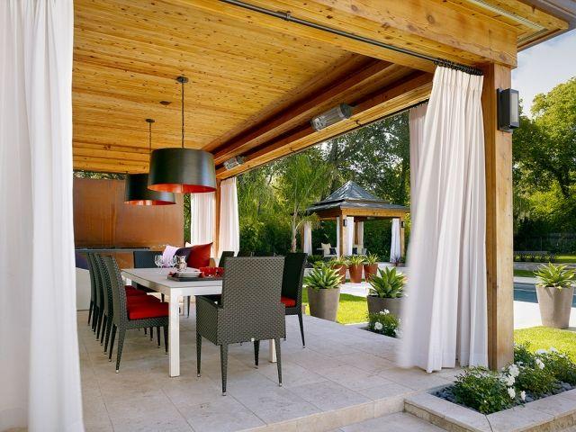 Terasse - Gestaltung mit Vorhängen (Sonnenschutz) | Sonnenschutz in ...