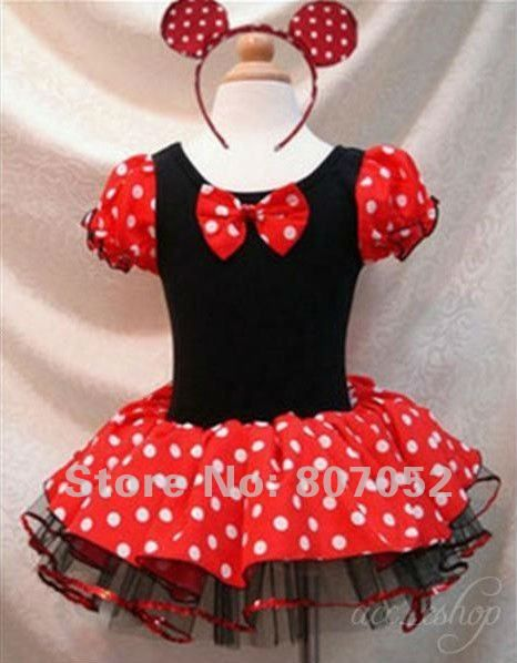 b4627ab6989f6 Free Shipping Halloween Minnie Mouse Girls child children Party ...