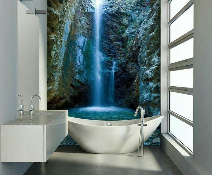 Behang In Badkamer : Pin van carola hummel op 3 d wall & floor pinterest badkamer